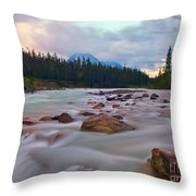 Whirlpool River Throw Pillow by James Steinberg and Photo Researchers