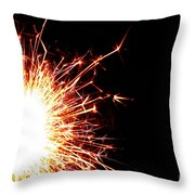 White Center Throw Pillow by Susan Herber