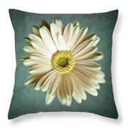 White Daisy Throw Pillow by Tamyra Ayles