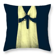 white dress Throw Pillow by Joana Kruse