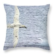 White Nelly Throw Pillow by Tony Beck