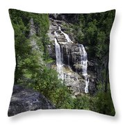 Whitewater Falls Throw Pillow by Rob Travis