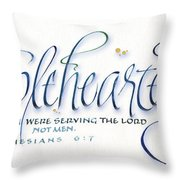 Wholeheartedly Throw Pillow by Judy Dodds