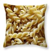 Wholemeal Pasta Throw Pillow by Frank Tschakert