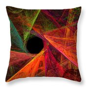 Wide Eye Color Delight Panorama Throw Pillow by Andee Design
