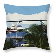 Willemstad - Curacao Throw Pillow by Juergen Weiss