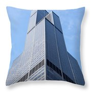 Willis-sears Tower In Chicago Throw Pillow by Paul Velgos