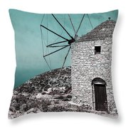 Windmill Throw Pillow by Joana Kruse
