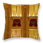 Window Candles Nostalgia Throw Pillow by Christine Till
