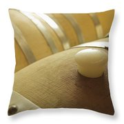 Wine Barrel Detail In Cellar At Winery Throw Pillow by James Forte