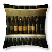 Wine Collection Throw Pillow by Jill Battaglia