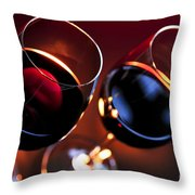 Wineglasses Throw Pillow by Elena Elisseeva