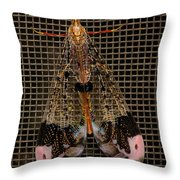 Wings Of Electricity Throw Pillow by DigiArt Diaries by Vicky B Fuller