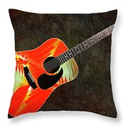 Wings Of Paradise Abstract Guitar Throw Pillow by Andee Design