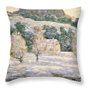 Winter Throw Pillow by Ernest Lawson