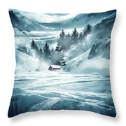 Winter Seclusion Throw Pillow by Lourry Legarde