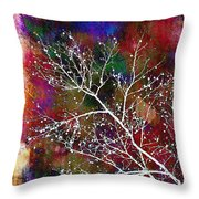 Winter Wishes Throw Pillow by Judi Bagwell