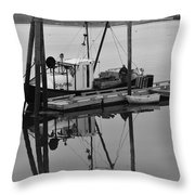 Wiscasset Reflection Throw Pillow by Catherine Reusch  Daley