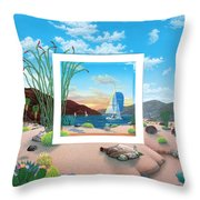 Wish You Were Here Throw Pillow by Snake Jagger