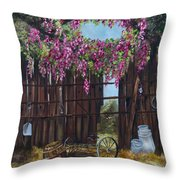 Wisteria Throw Pillow by Jan Holman