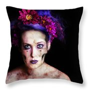 Withered Throw Pillow by Robert  Adelman