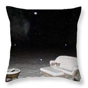 Wolf And Bear Spirit Guides Throw Pillow by Michael MacGregor