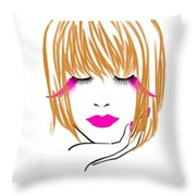 Woman 10 Throw Pillow by Cheryl Young