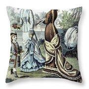 Womens Fashion, 1877 Throw Pillow by Granger