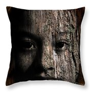Woodland Spirit Throw Pillow by Christopher Gaston