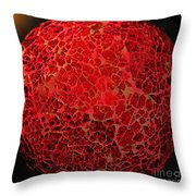 World On Fire Throw Pillow by Kaye Menner