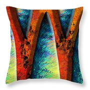World Wide Web Throw Pillow by Paul Wear