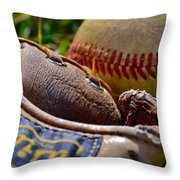 Worn Out Throw Pillow by Bill Owen