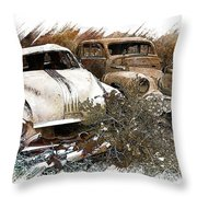 Wreck 3 Throw Pillow by Mauro Celotti