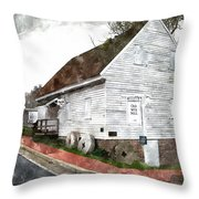 Wye Mill - Water Color Effect Throw Pillow by Brian Wallace