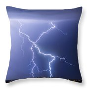 X Lightning Bolt In The Sky Throw Pillow by James BO  Insogna