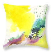 Yellow Sky 2 Throw Pillow by Anil Nene