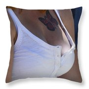 Youthful Expression Throw Pillow by Bob Christopher
