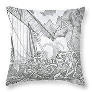 Zheng Yis Pirates Capture John Turner Throw Pillow by Photo Researchers