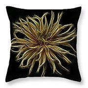 Zinnia  Throw Pillow by Sandy Keeton