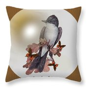 Eastern Kingbird Throw Pillow by Madeline  Allen - SmudgeArt