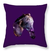 Horse In The Small Magellanic Cloud Throw Pillow by Anastasiya Malakhova