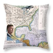 Charles Lindbergh Throw Pillow by Granger