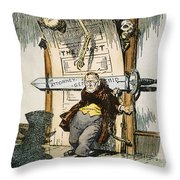 SKELETONS OF MALFEASANCE Throw Pillow by Granger