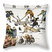 CHINA: ANTI-WEST CARTOON Throw Pillow by Granger