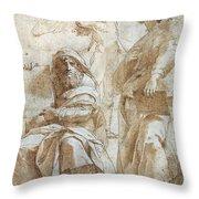 Raphael: Study, C1510 Throw Pillow by Granger