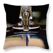 1934 Packard Hood Ornament 3 Throw Pillow by Jill Reger