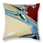 1940 Packard Hood Ornament Throw Pillow by Jill Reger