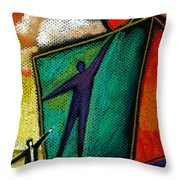 Ambition Throw Pillow by Leon Zernitsky