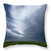 An Afternoon Thunderstorm Coming Throw Pillow by Jim Richardson