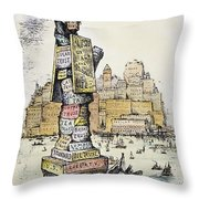 Anti-trust Cartoon, 1889 Throw Pillow by Granger